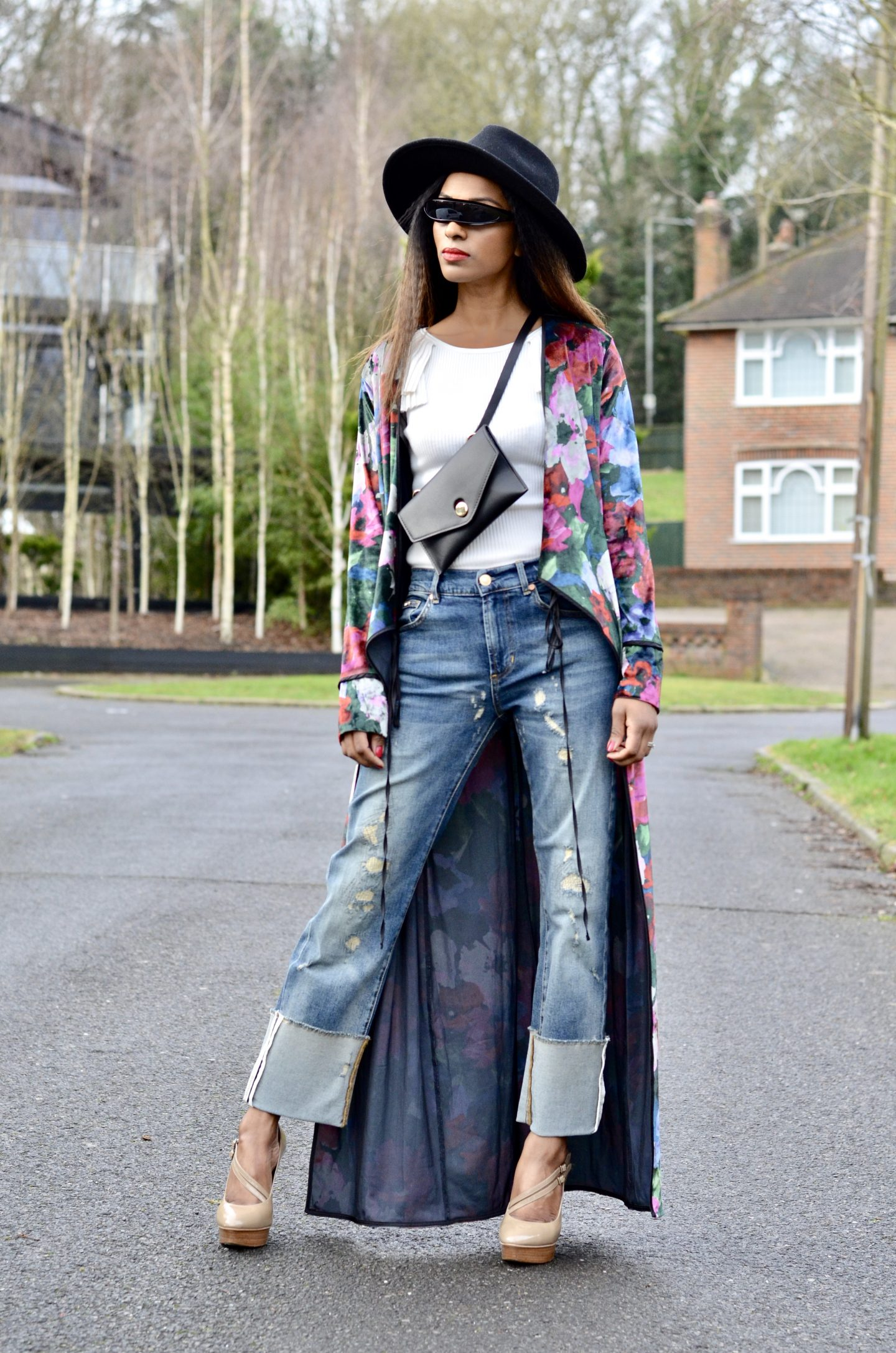 How to style denim and kimono
