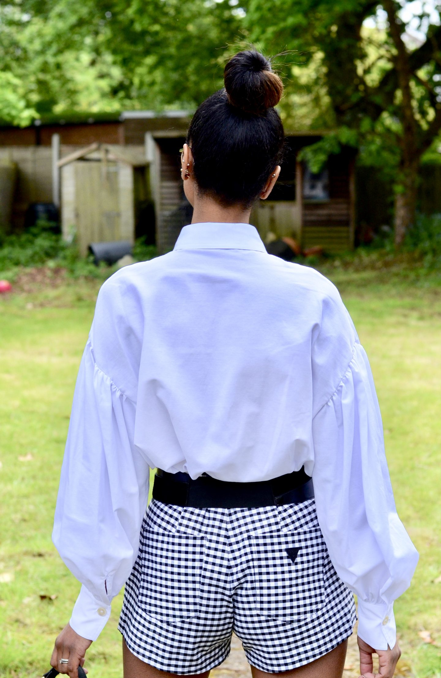 Mango White shirt with Puff sleeve