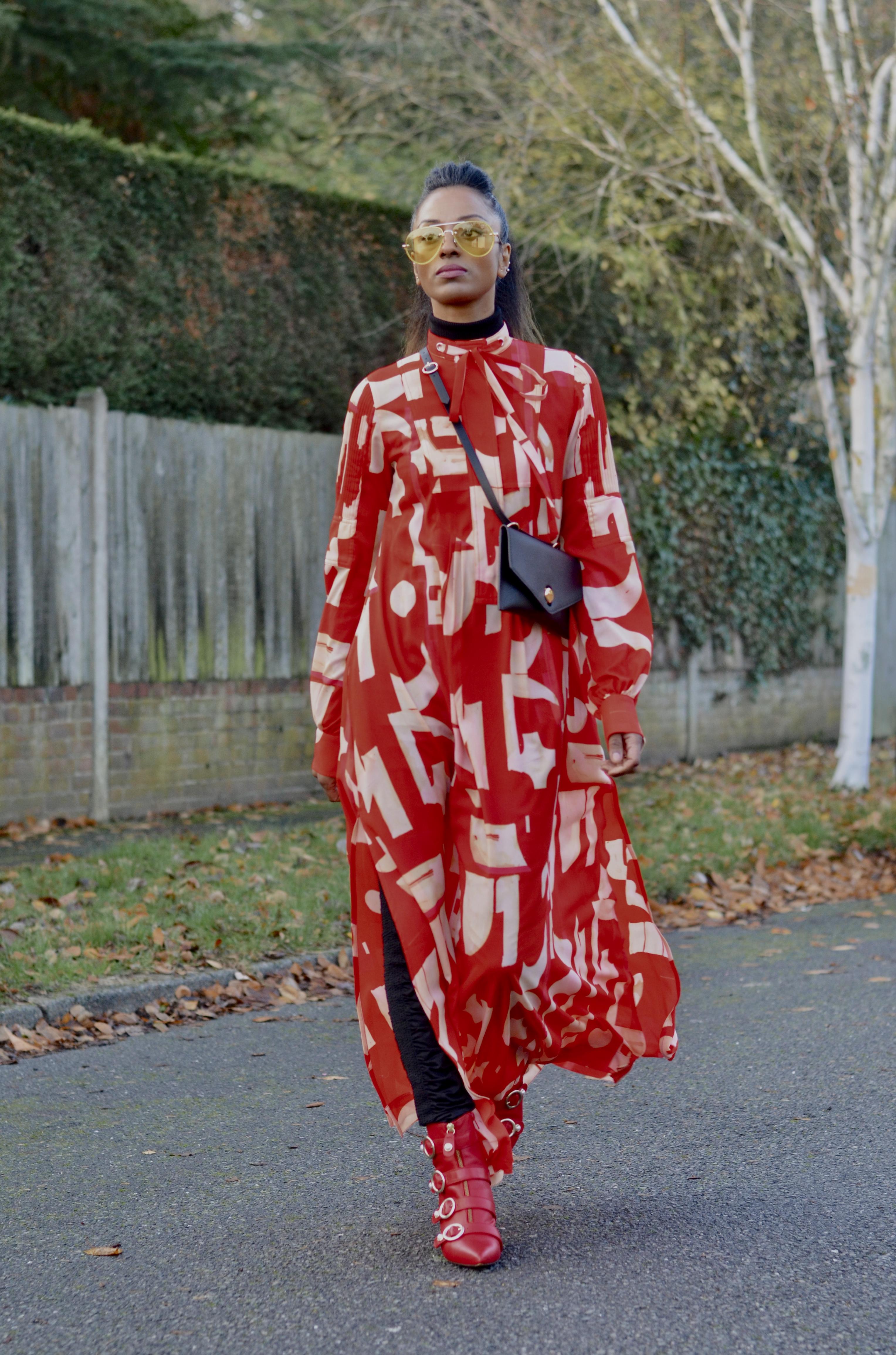 SASS & BIDE LEGGINGS AND H &M MAXI DRESS