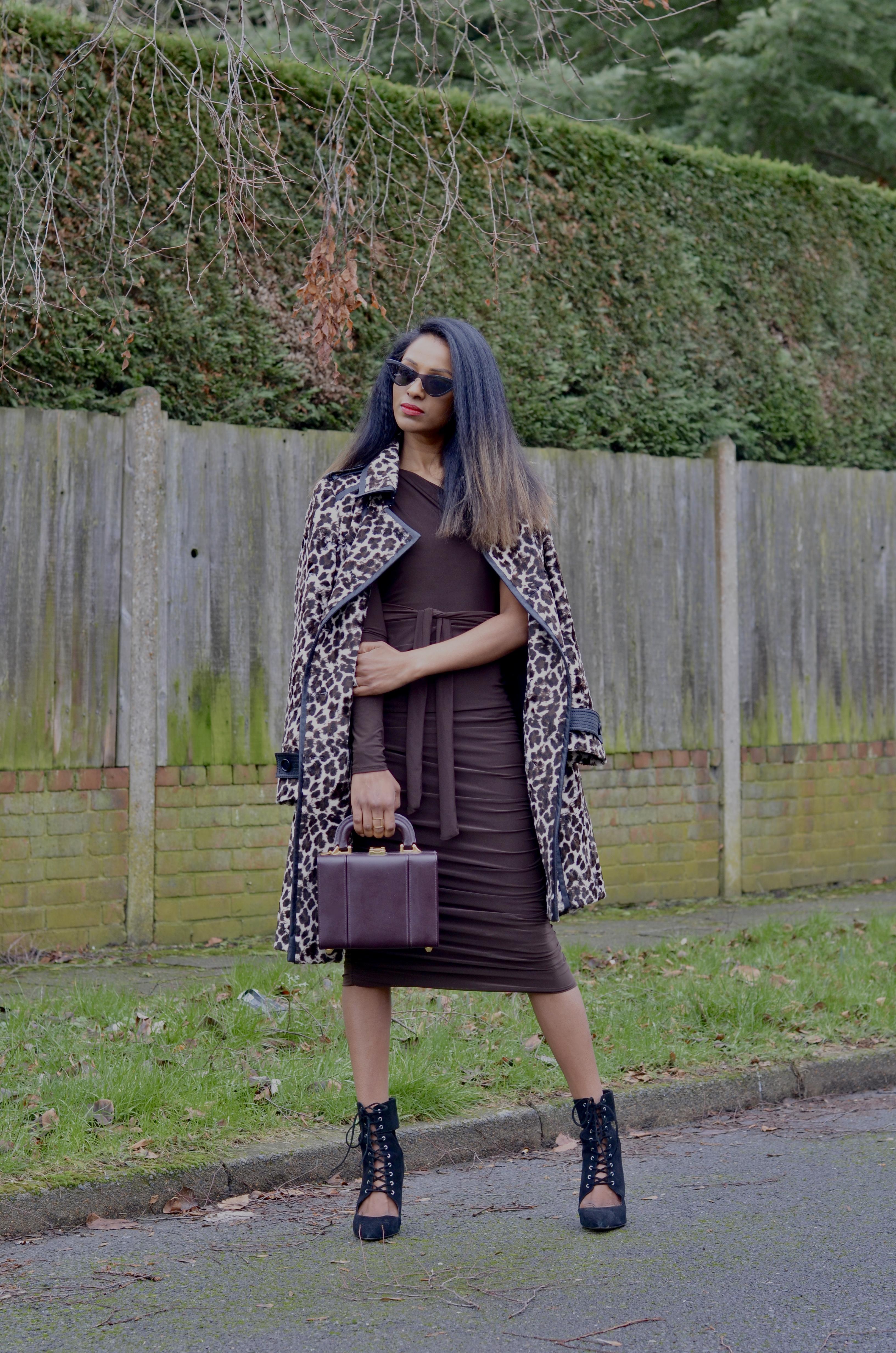 ONE SHOULDER DRESS AND KAREN MILLEN COAT