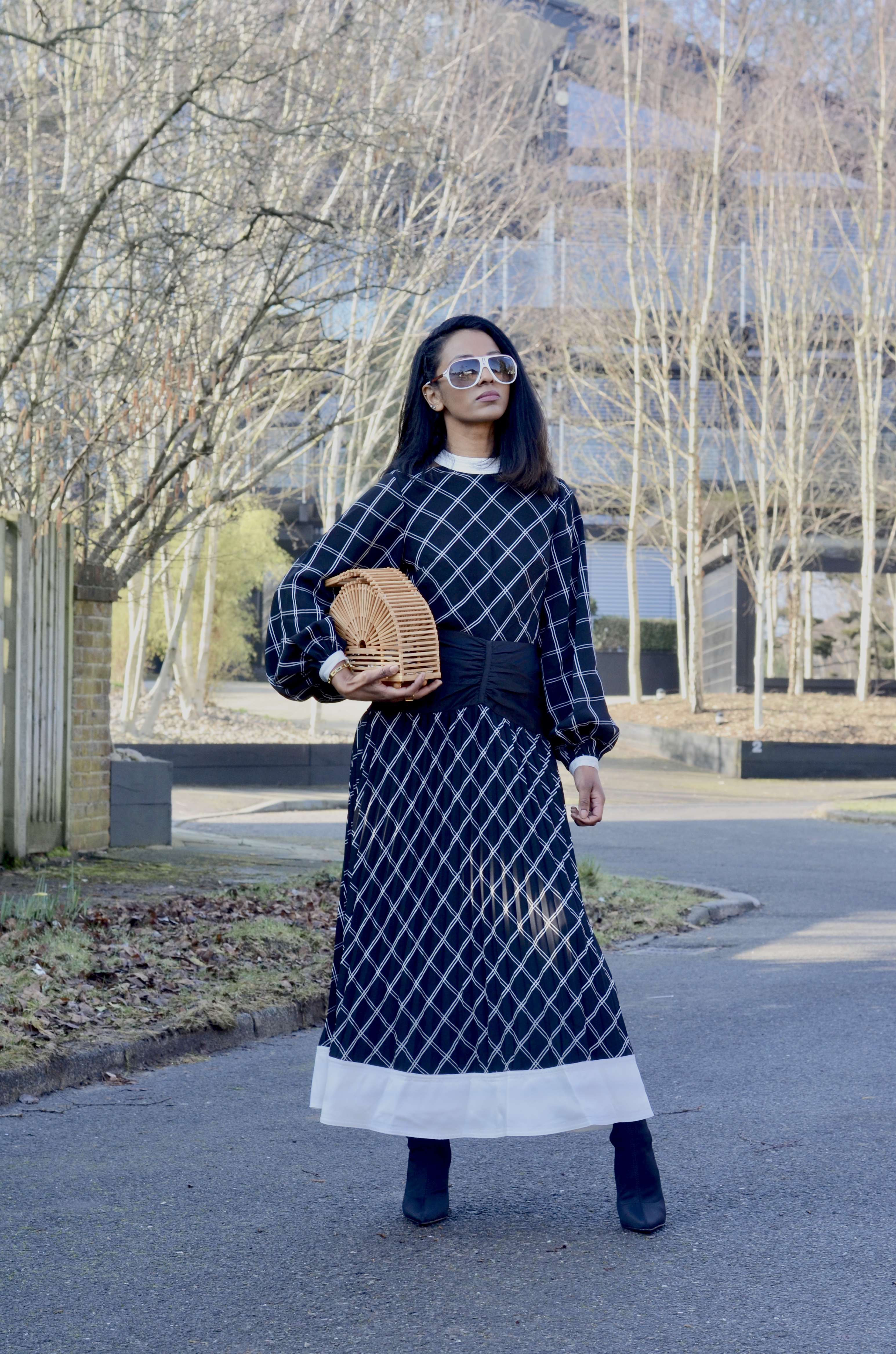 SPRING READY IN A SELF-PORTRAIT DRESS