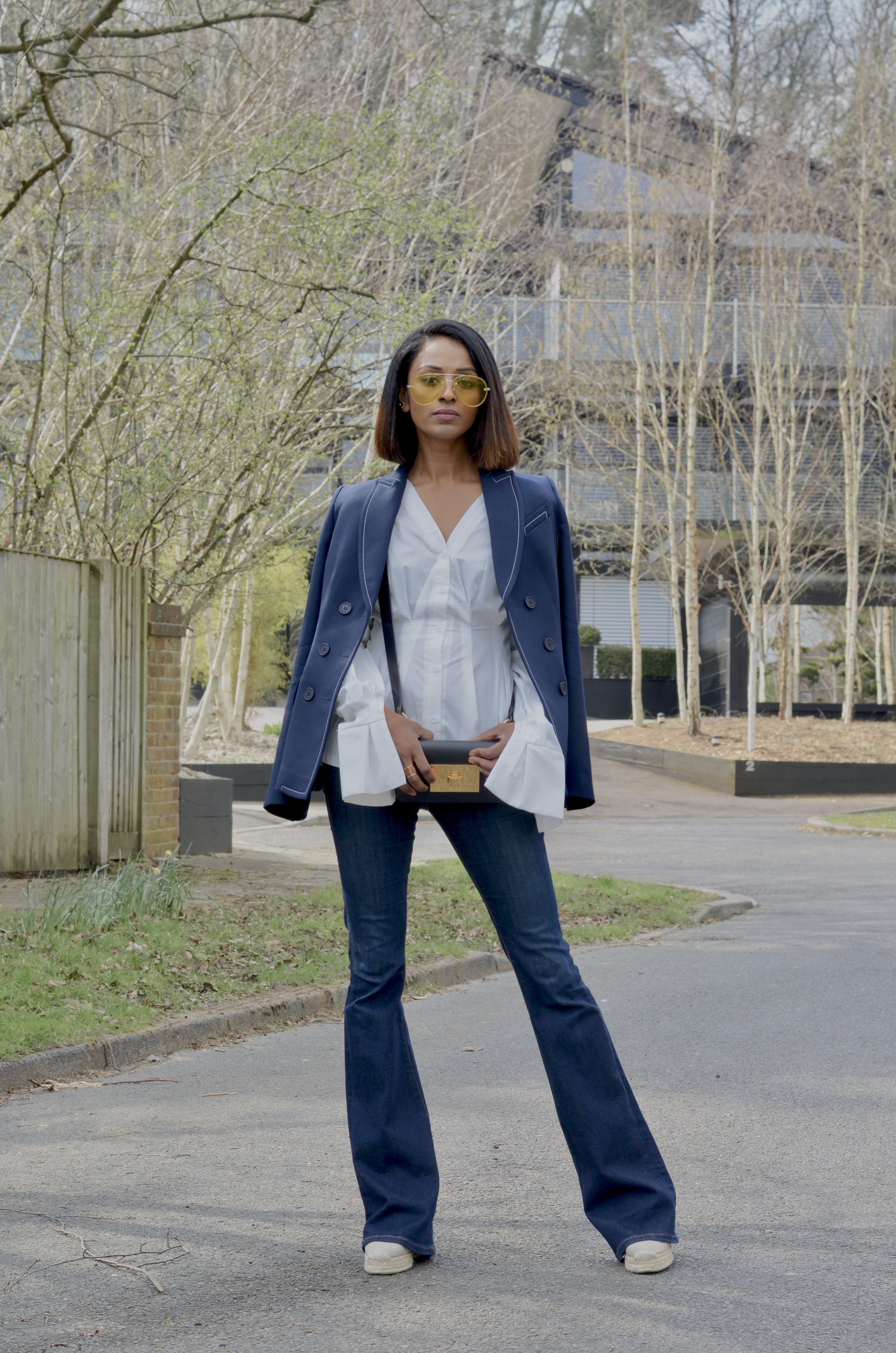 HOW TO STYLE A CONTRAST STITCH BLAZER