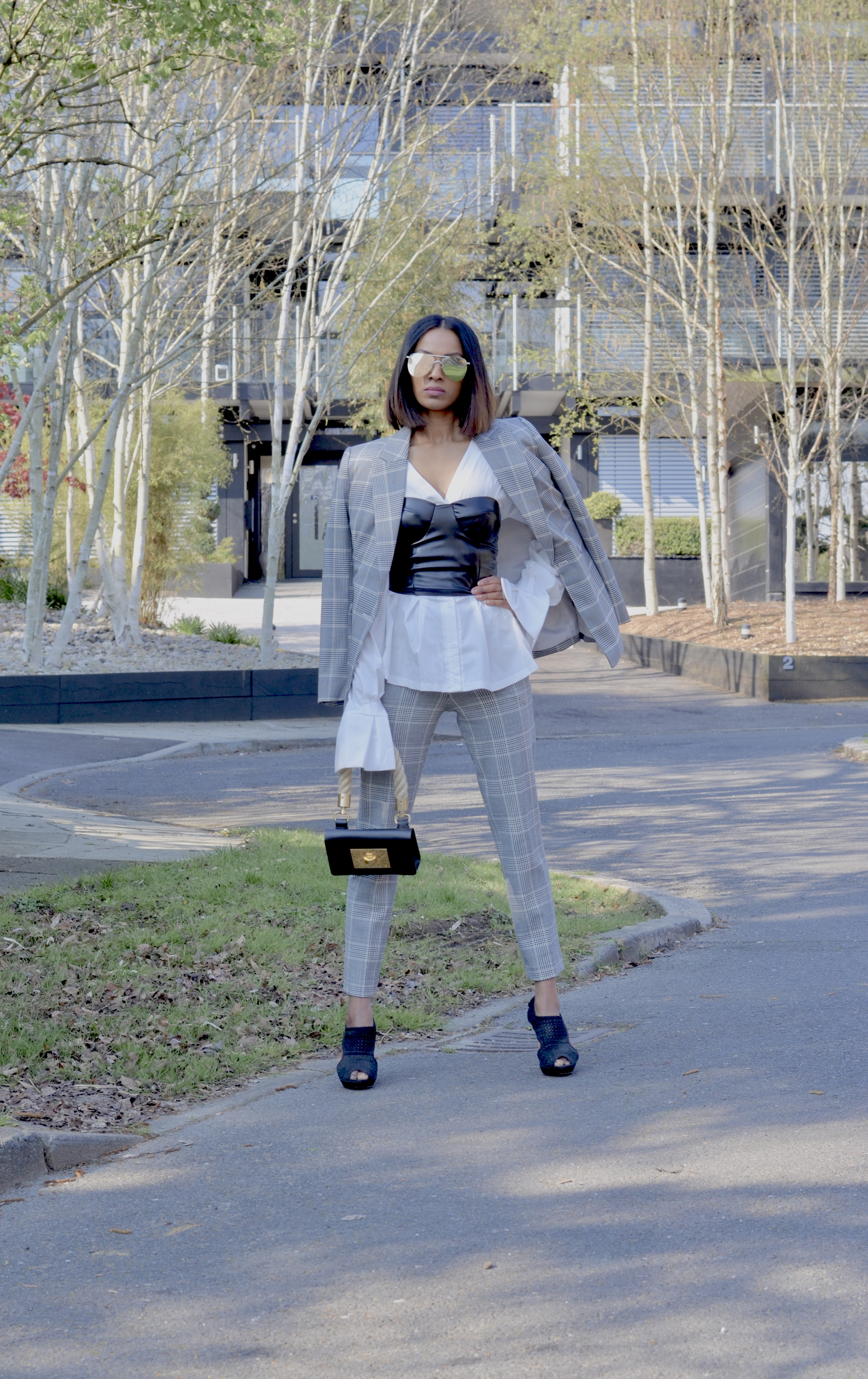 HOW TO STYLE A BUSTIER WITH A SUIT