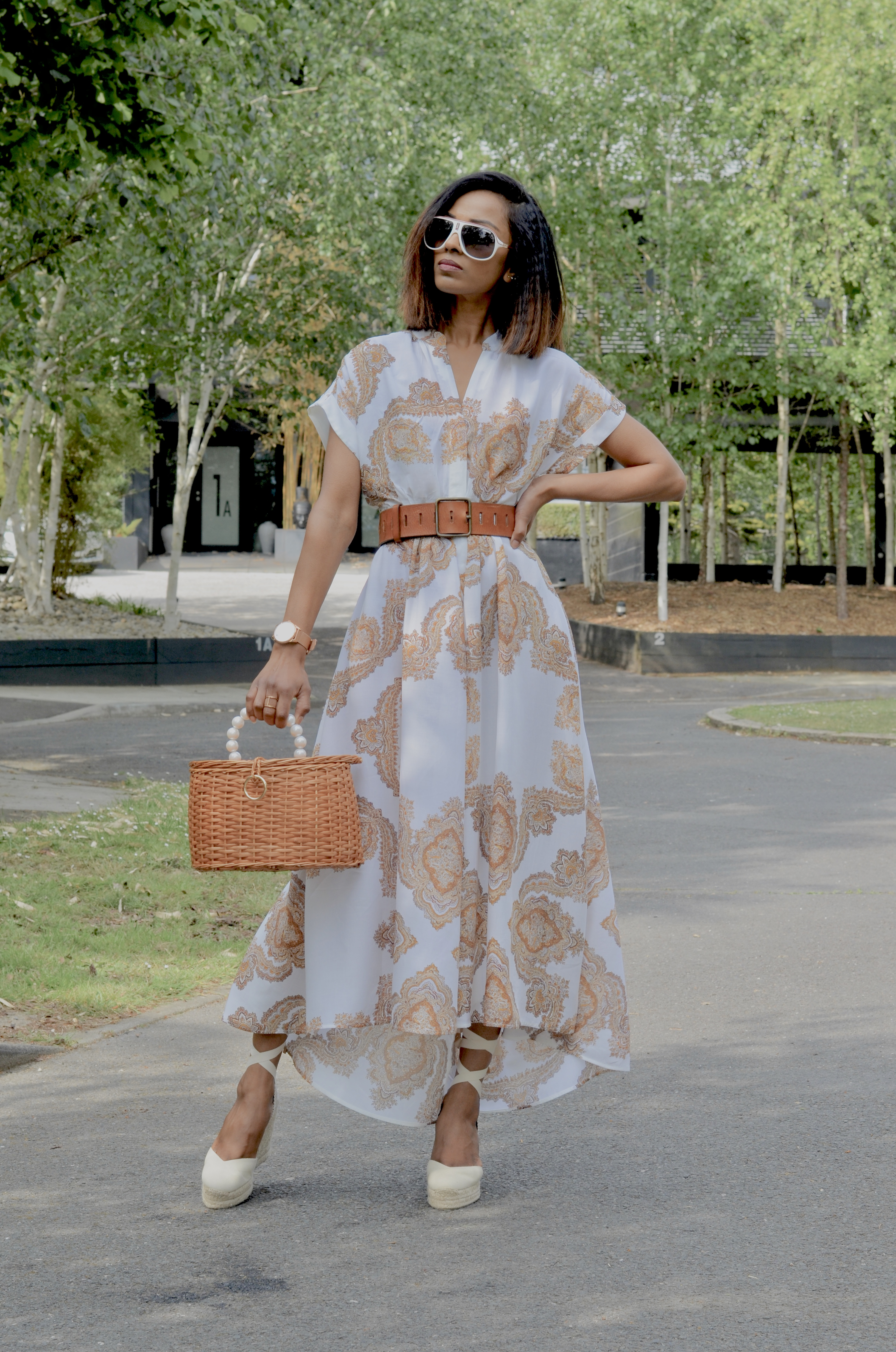 HOW TO STYLE A PAISLEY MAXI DRESS
